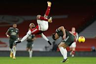 Brought to earth: Arsenal and Manchester United played out a goalless draw