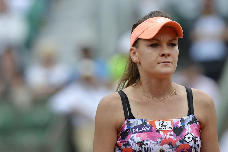 Poland's Agnieszka Radwanska, seen during a French Open match at the Roland Garros stadium in Paris, on May 30, 2014
