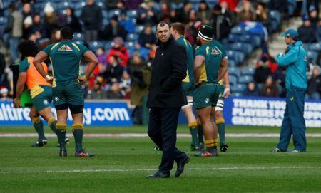 FILE PHOTO: Rugby Union - Autumn Internationals - Scotland vs Australia - BT Murrayfield, Edinburgh, Britain - November 25, 2017 Australia head coach Michael Cheika during the warm up before the match Action Images via Reuters/Craig Brough