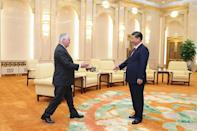US Secretary of State Rex Tillerson met President Xi Jinping and top Chinese diplomats in Beijing on Saturday to discuss the North Korean nuclear crisis. (AFP Photo/Lintao Zhang)