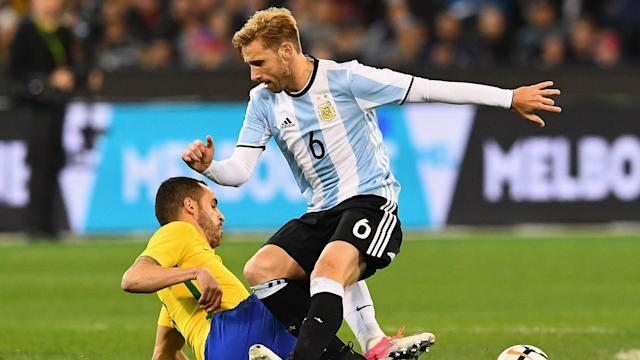 Lucas Biglia could be in a race to return to full fitness in time for the World Cup after suffering a back injury playing for AC Milan.