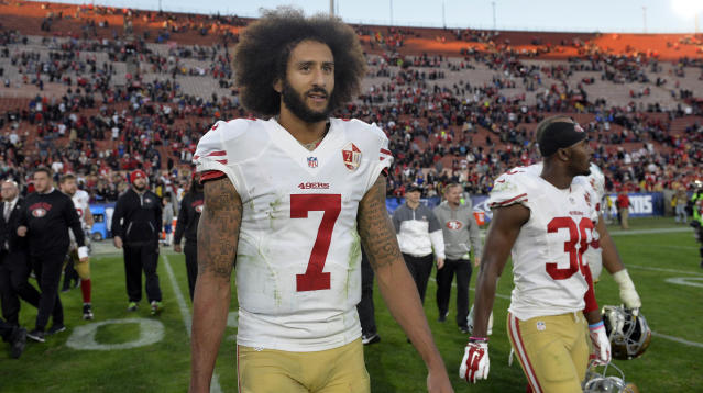 "Colin Kaepernick's mom wasted no words Saturday responding to President Donald Trump's statement that athletes like her son, the former San Francisco 49ers quarterback, who protest during the national anthem are a ""son of a bitch"" and should be fired."