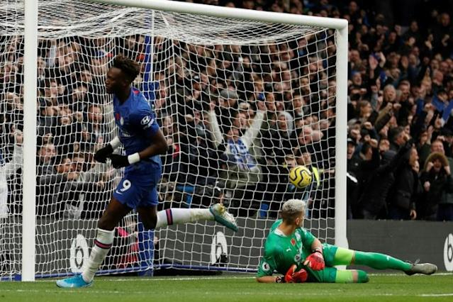 Perfect 10: Tammy Abraham scored his 10th Premier League goal of the season against Crystal Palace (AFP Photo/Adrian DENNIS)