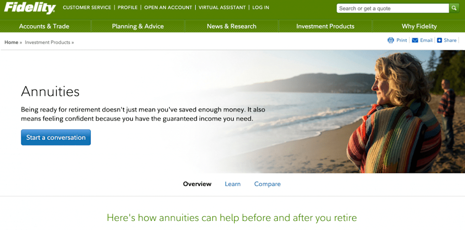 Fidelity Annuities Solution