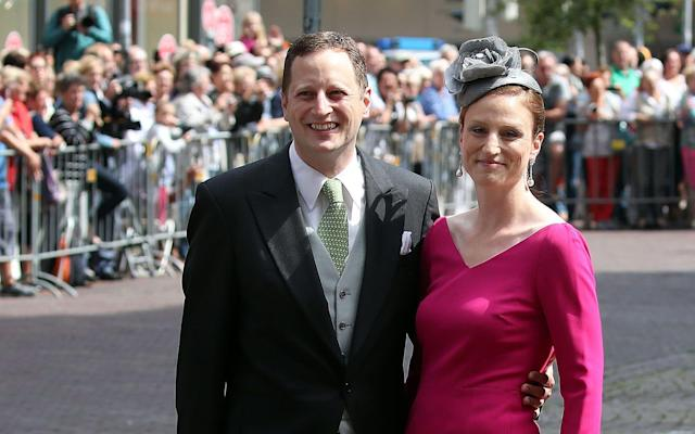 The claim is led by Georg Friedrich Ferdinand Prince of Prussia, pictured here with his wife Princess Sophie - AFP or licensors