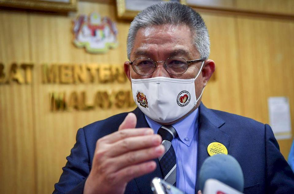 The gazette exempting full quarantine for ministers returning from official duties overseas was signed by Health Minister Datuk Seri Dr Adham Baba. — Bernama file pic