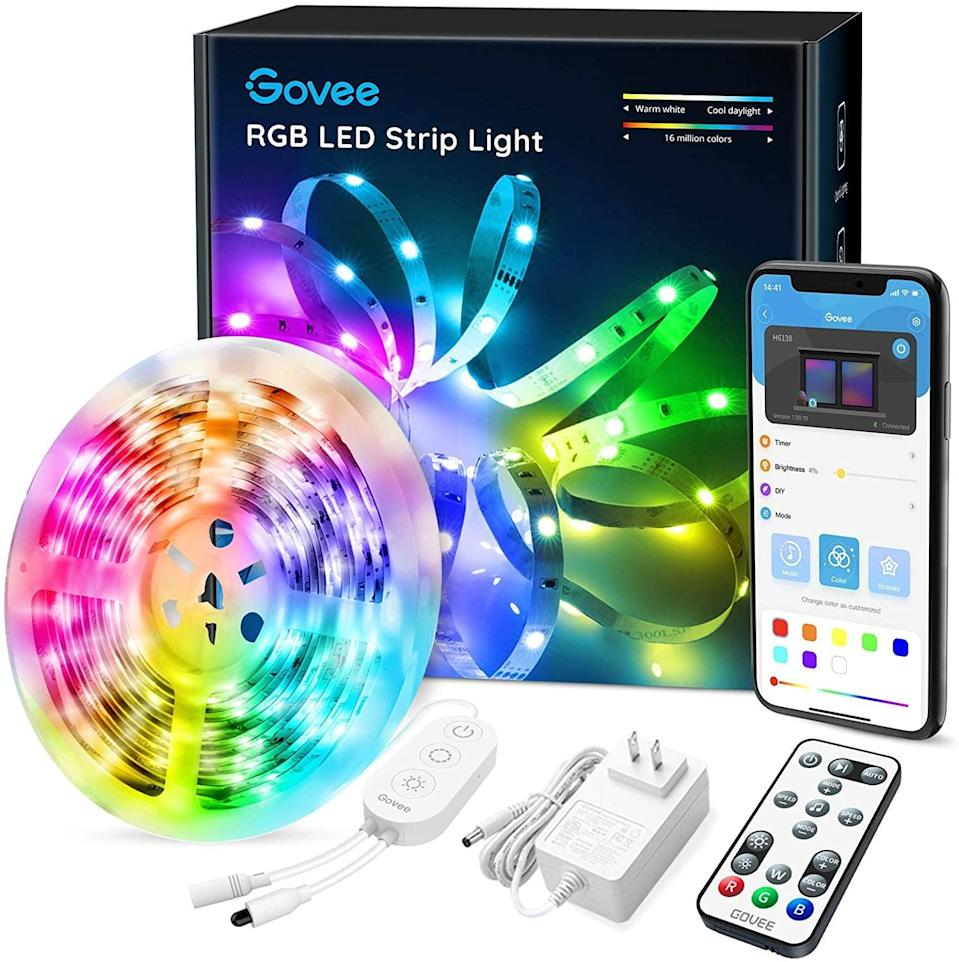 <p>They can add some mood lighting to just about anywhere with this <span>LED Strip Lights Bluetooth Set</span> ($18). It can even be connected and controlled though a smartphone.</p>