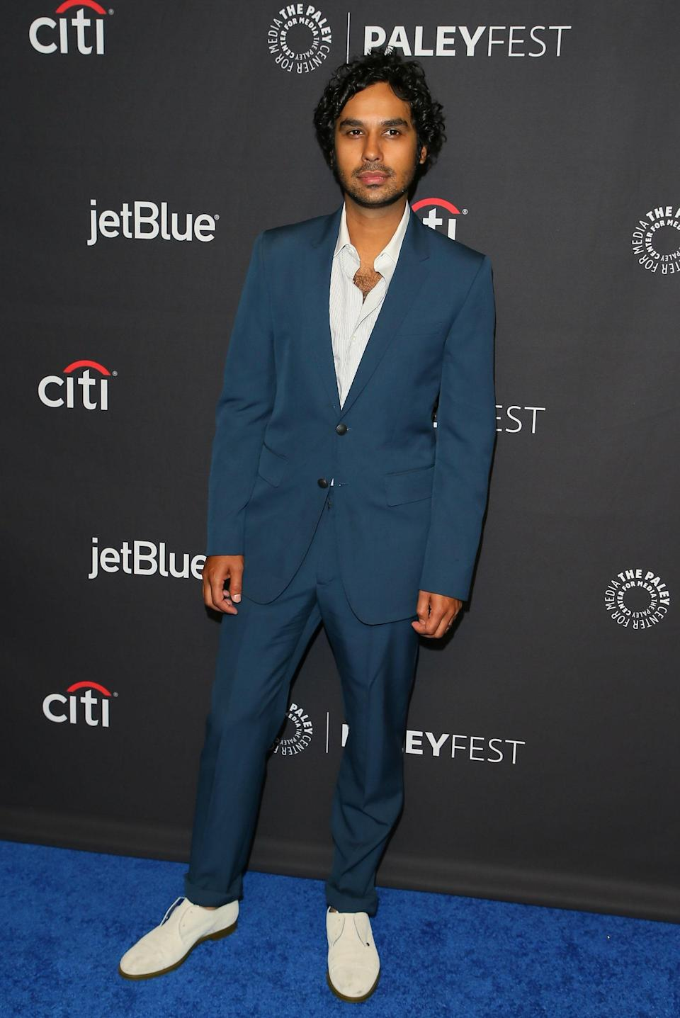 Any <em>Big Bang Theory</em> fan knows Kunal Nayyar as the lovably awkward astrophysicist Rajesh Koothrappali. The London-born Indian actor grew up in New Dehli, where his parents still live. Most recently, he voiced the roll of Guy Diamond in <em>Trolls World Tour.</em> Nayyar holds a master's degree in fine arts.