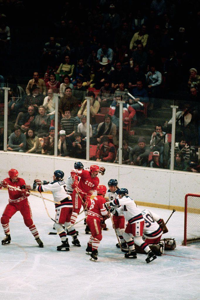 """<p>Referred to as the """"Miracle on Ice"""" (and the true story behind the film <em>Miracle</em>)<em>,</em> the United States hockey team put blood, sweat, and tears into defeating the Soviet Union at the 1980 Lake Placid Olympics, which was held during the peak of the Cold War. </p>"""