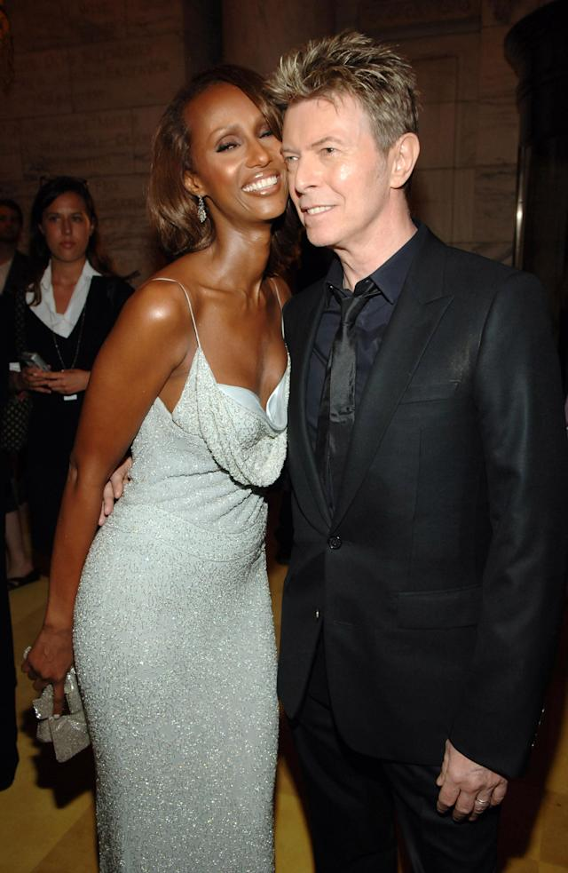 Dad would be proud! Iman and the late David Bowie's only daughter, Lexi, has graduated from high school. Here is the couple at the 2005 CFDA Fashion Awards. (Photo: Dimitrios Kambouris/WireImage)