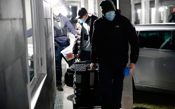 Danish police search a property in connection with the arrests - presse-fotos.dk/Ritzau