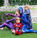 """<p>Power up! Jaime King's husband, Kyle Newman, proved that they take Halloween very seriously at their household. """"HALLOWEEN PRACTICE!!! The family that plays together…"""" he shared, nearly two weeks before the actual holiday. (Photo: Instagram/Jaime King) </p>"""