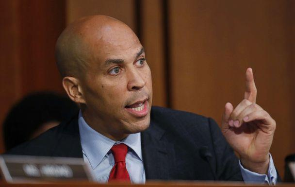 PHOTO: Sen. Cory Booker, D-N.J., speaks before President Donald Trump's Supreme Court nominee, Brett Kavanaugh testifies before the Senate Judiciary Committee on Capitol Hill in Washington, Sept. 6, 2018, for the third day of his confirmation. (Alex Brandon/AP)