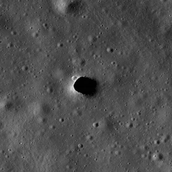 Skylights on the Moon are collapses that occur over subsurface voids. Skylights occur in many terrestrial lava tubes, providing access, although sometimes requiring shimming down a rope. If the skylight roof is too thin, their edges may collaps