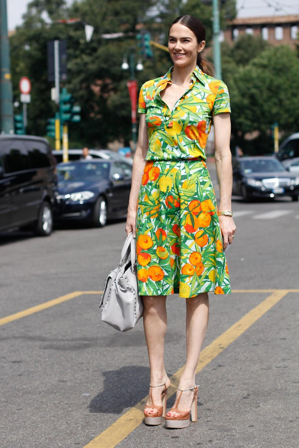<p>Charm the pants off, well, whoever you happen to run into with a retro-inspired look like this one.</p>