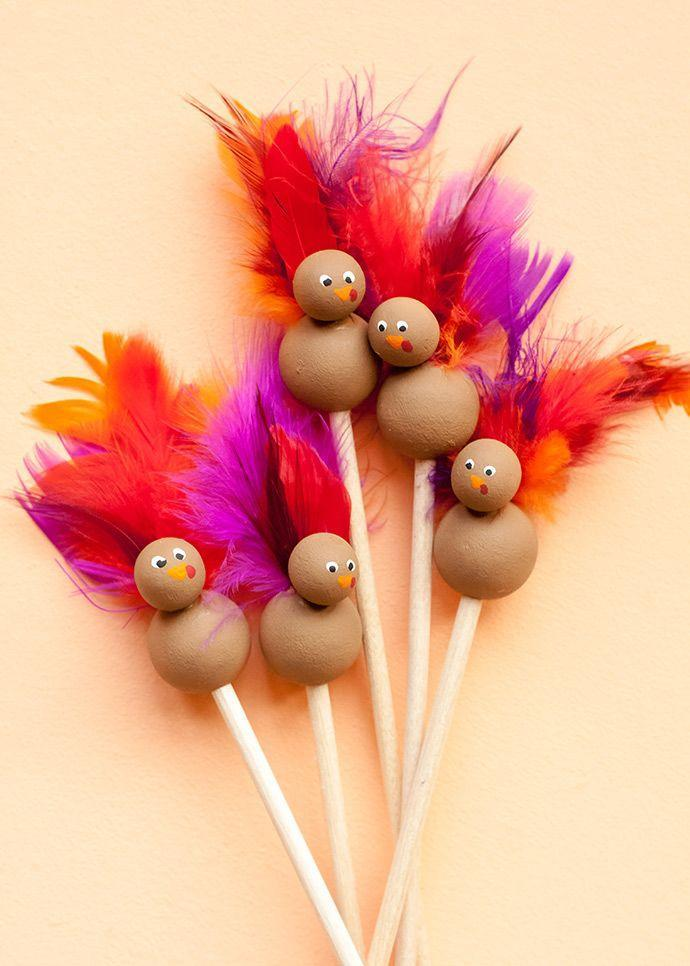 """<p>Use them to stir hot chocolate and afterwards the kiddos can use them as puppets.</p><p><strong>Get the tutorial at <a href=""""https://www.handmadecharlotte.com/diy-turkey-stir-sticks/"""" rel=""""nofollow noopener"""" target=""""_blank"""" data-ylk=""""slk:Homemade Charlotte"""" class=""""link rapid-noclick-resp"""">Homemade Charlotte</a>.</strong></p><p><a class=""""link rapid-noclick-resp"""" href=""""https://www.amazon.com/Wood-Coffee-Stick-Count-Round/dp/B07HH1SQ8S/ref=sr_1_2_sspa?tag=syn-yahoo-20&ascsubtag=%5Bartid%7C10050.g.28638625%5Bsrc%7Cyahoo-us"""" rel=""""nofollow noopener"""" target=""""_blank"""" data-ylk=""""slk:Shop Stir Sticks"""">Shop Stir Sticks</a></p>"""