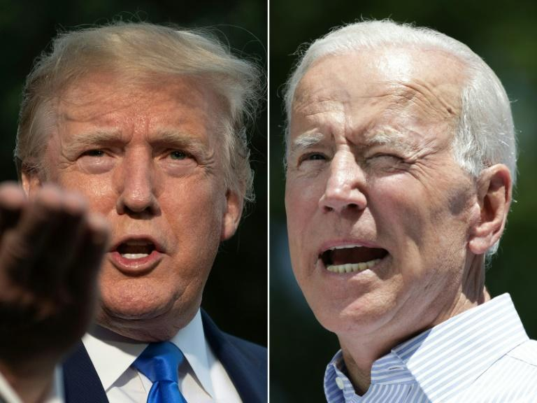 Former US vice president Joe Biden (right) defeated more than two dozen Democratic rivals to win the party's nomination and the right to square off against President Donald Trump in the general election on November 3, 2020