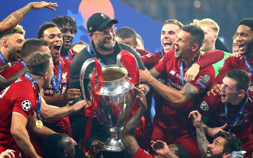 Liverpool with the Champions League - GETTY IMAGES