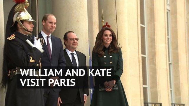 William and Kate visit France