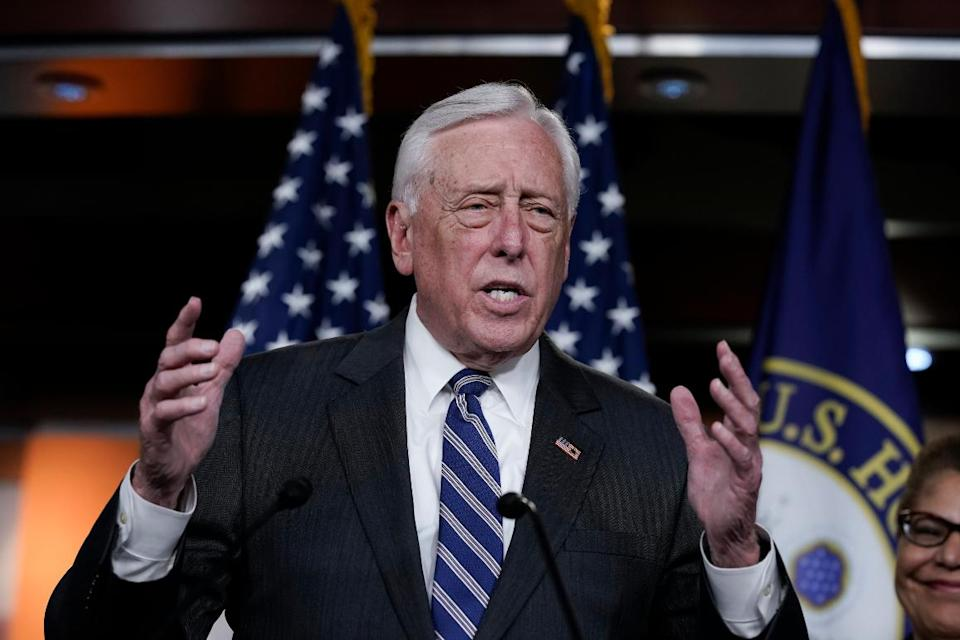 House Majority Leader Steny Hoyer speaks at an event hosted by Maryland Democrats.
