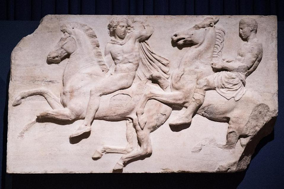 Britain has faced calls to return the Elgin Marbles to Greece (AFP Photo/LEON NEAL)