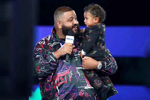 <p>DJ Khaled and his baby Asahd Tuck Khaled attend the VMAs. (Photo: Rich Fury/Getty Images) </p>