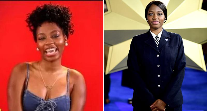 Khafi Kareem is on Nigerian Big Brother against her police bosses' wishes (Pictures: Africa Magic/PA)
