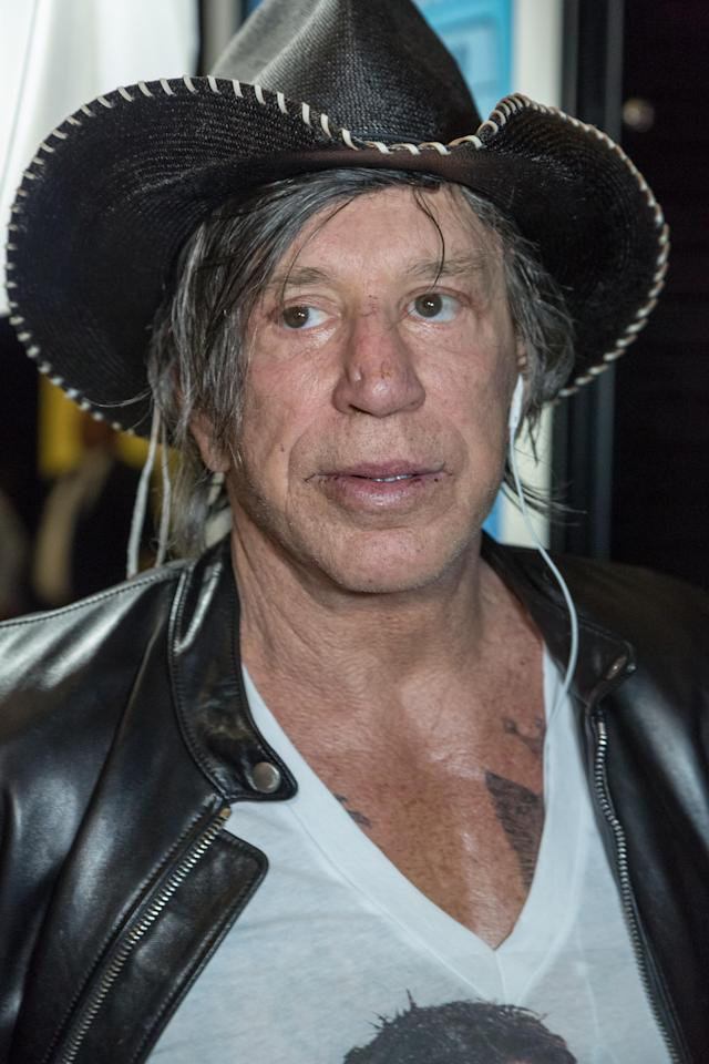 Mickey Rourke attends the screening of <i>Through My Father's Eyes: The Ronda Rousey Story</i> in Hollywood, Dec. 30, 2016. (Photo: Greg Doherty/Getty Images)