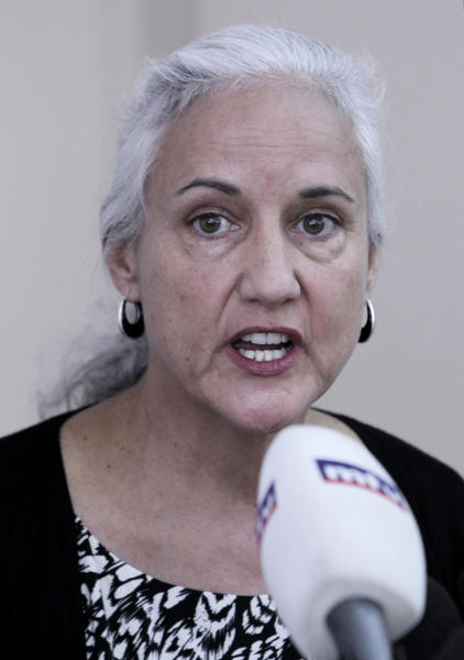 "Deborah Tice, mother of Austin Tice who is missing in Syria, speaks during a press conference, at the Press Club, in Beirut, Lebanon, Monday, Nov. 12, 2012. The family of an American freelance journalist, who disappeared in Syria while covering the war says they still don't know who is holding him. The parents of Austin Tice told reporters in Beirut Monday they have ""no idea where he is and who he is with."" (AP Photo/Bilal Hussein)"