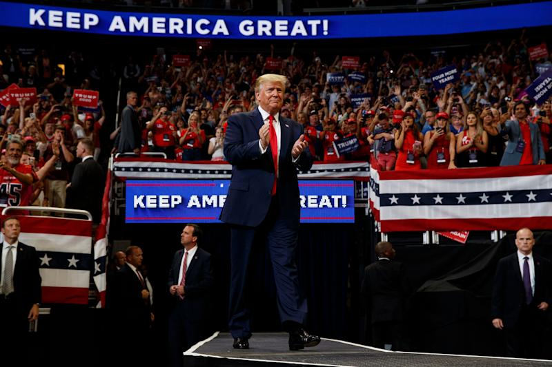 President Donald Trump raised $108 million across four campaign accounts for his reelection campaign in the second quarter. (Photo: ASSOCIATED PRESS)