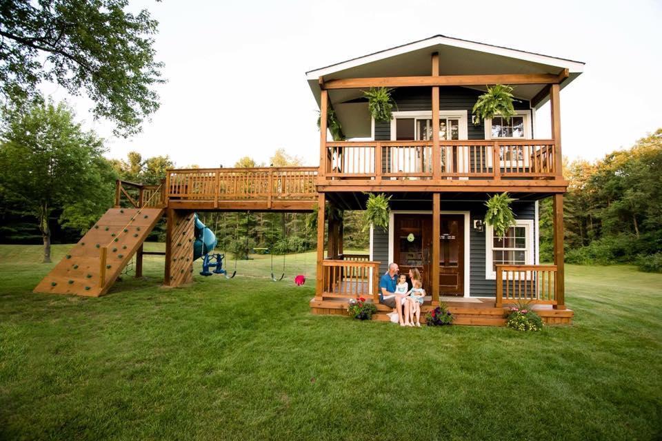 The treehouse is 24 feet tall. (Flashes of Life photography)