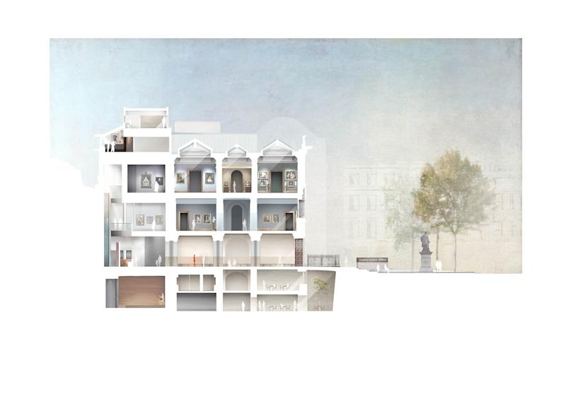 Plans for the National Portrait Gallery