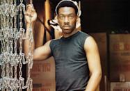 """<p>Eddie Murphy was already a star on the rise thanks to <em>Saturday Night Live</em> when he filmed <em>Beverly Hills Cop</em>, but the movie was his first major leading role. Its box office success took him to international superstar status.</p> <p><em>Available to rent on</em> <a href=""""https://www.amazon.com/Beverly-Hills-Cop-Martin-Brest/dp/B001JDUDTU"""" rel=""""nofollow noopener"""" target=""""_blank"""" data-ylk=""""slk:Amazon Prime Video"""" class=""""link rapid-noclick-resp""""><em>Amazon Prime Video</em></a>.</p>"""