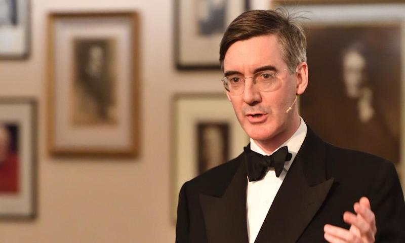 Jacob Rees-Mogg at a Cambridge Union Brexit debate on Thursday.