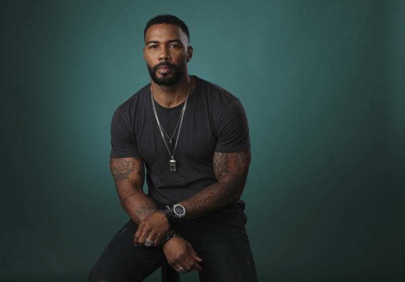 """In this Friday, July 26, 2019, photo, Omari Hardwick poses for a portrait during the Television Critics Association Summer Press Tour at the Beverly Hilton in Beverly Hills, Calif. Hardwick appears on """"Power,"""" the Starz series that has turned into a ratings juggernaut and already sparked plans for a spinoffs. The show begins airing its final season on Sunday, Aug. 25. (Photo by Chris Pizzello/Invision/AP)"""