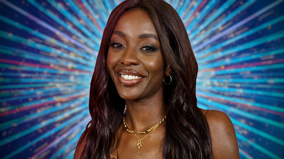 Programme Name: Strictly Come Dancing 2021 - TX: n/a - Episode: Strictly Come Dancing - Celebrity Announcements (No. n/a) - Picture Shows:  AJ Odudu - (C) BBC - Photographer: BBC