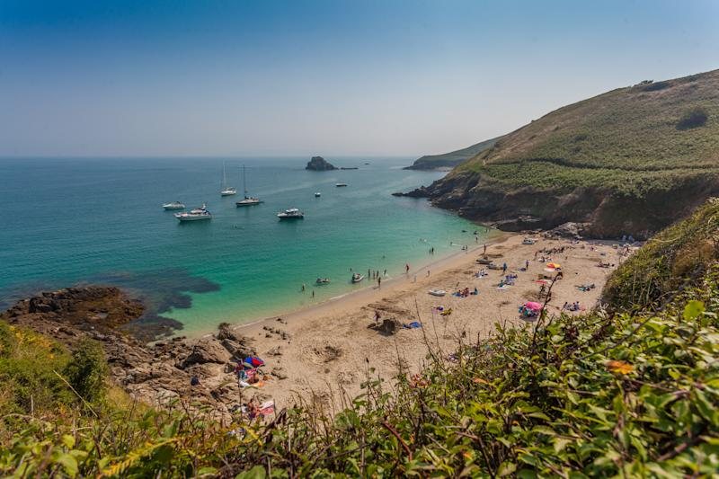 Herm's pretty Belvoir Bay is a beautiful spot for a dip.