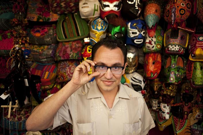 """A 2012 photo of Gustavo Arellano, then editor of the OC Weekly and author of the syndicated ¡Ask a Mexican! column. <span class=""""copyright"""">(Arkasha Stevenson / Los Angeles Times)</span>"""