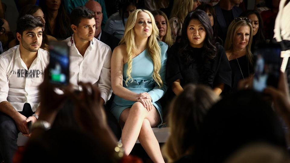 Mandatory Credit: Photo by Andy Kropa/Invision/AP/Shutterstock (9877063p)Tiffany Trump, center, attends the NYFW Spring/Summer 2019 Toaray Wang fashion show at Gallery II at Spring Studios, in New YorkNYFW Spring/Summer 2019 - Toaray Wang, New York, USA - 08 Sep 2018.