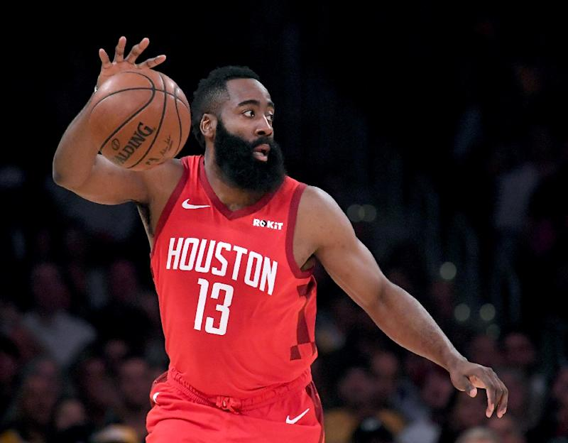 58bf8dfbd1ac NBA Rockets star Harden fined  25K for ripping referees