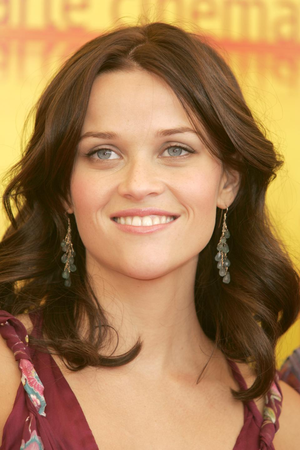 Reese Witherspoon at Venice Film Festival in 2004 with her Walk the Line hair [Photo: Getty]