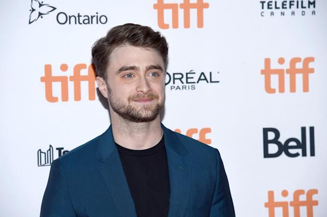 """Daniel Radcliffe attends the """"Guns Akimbo"""" premiere during the 2019 Toronto International Film Festival at Ryerson Theatre on September 09, 2019 in Toronto, Canada. (Photo by Amanda Edwards/Getty Images)"""