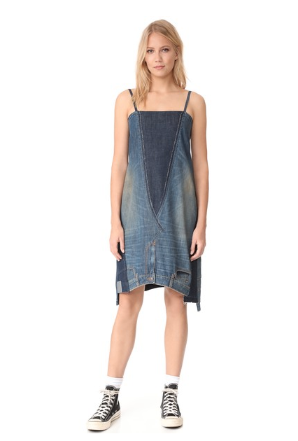 <p>This is some real DIY right here. A pair of jeans has literally been turned into a slouchy dress and will set you back a measly £350.<br><i>[Photo: Shopbop]</i> </p>