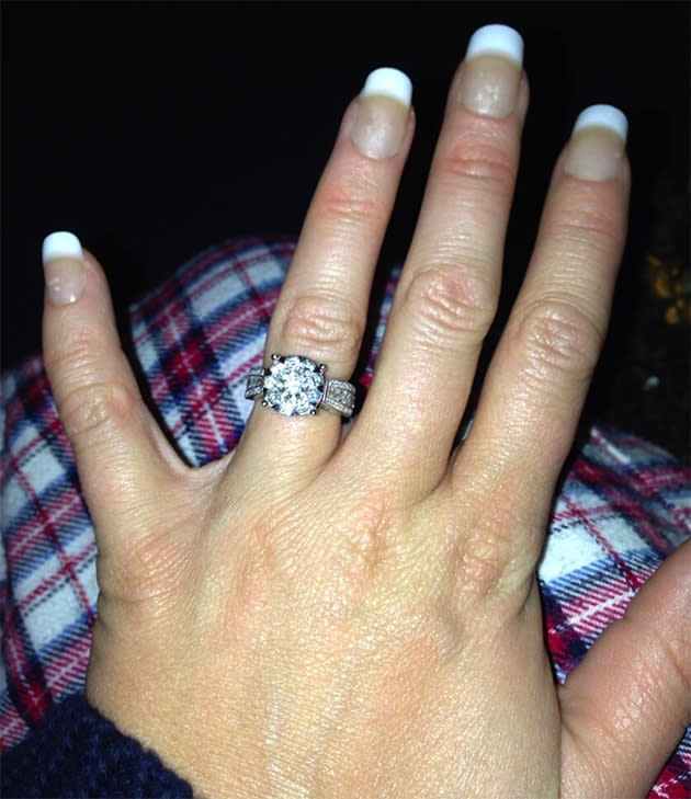 Kerry Katona tweeted an excited picture of her MASSIVE engagement ring [Twitter]