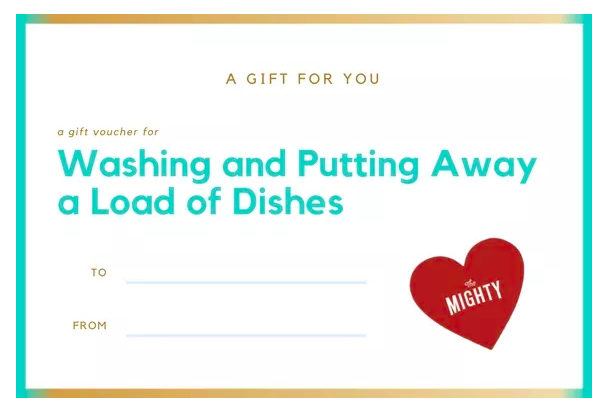 coupon for washing and putting away a load of dishes