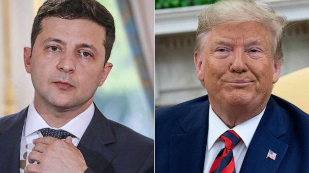 PHOTO: Ukraine's President Volodymyr Zelenskiy, left, and President Donald Trump, right. (AFP/Getty Images)