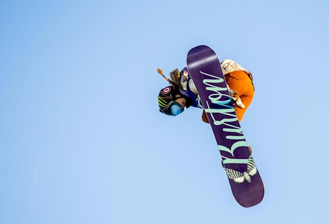 FILE PHOTO: Oslo 20160226. X Games Oslo 2016: Snowboard superpipe women: Winner Chloe Kim from USA in action, February 26, 2016. REUTERS/Vegard Wivestad Grott/NTB Scanpix/File Photo ATTENTION EDITORS - THIS IMAGE WAS PROVIDED BY A THIRD PARTY. NOT FOR SALE FOR MARKETING OR ADVERTISING CAMPAIGNS. THIS PICTURE IS DISTRIBUTED EXACTLY AS RECEIVED BY REUTERS, AS A SERVICE TO CLIENTS. NORWAY OUT. NO COMMERCIAL OR EDITORIAL SALES IN NORWAY. NO COMMERCIAL SALES.