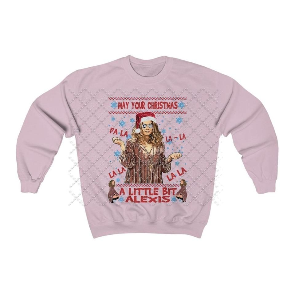 <p><span>A Little Bit Alexis Ugly Christmas Sweater</span> ($27)</p>