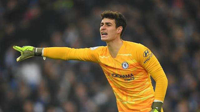 "Kepa Arrizabalaga has responded well to being dropped, according to Frank Lampard, who said: ""It's part and parcel of being a footballer."""