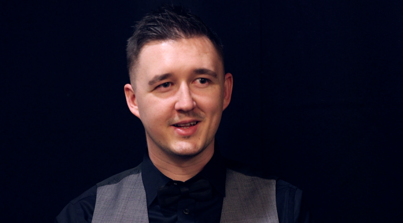 Kyren Wilson was aiming to claim the first Triple Crown title of his career